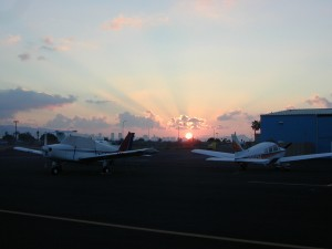 Sunrise over the PHNL south ramp