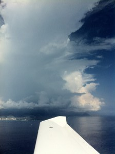 Thunderstorm over East Oahu