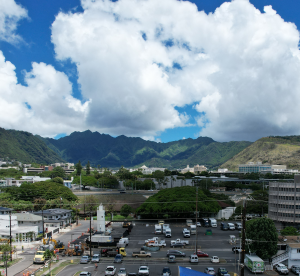Manoa Valley, Honolulu, from Moiliili; Photo D. A. Whinery, produced during CFR 14 part 107 activity
