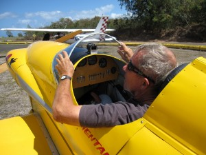 Gene in his home-built RV2